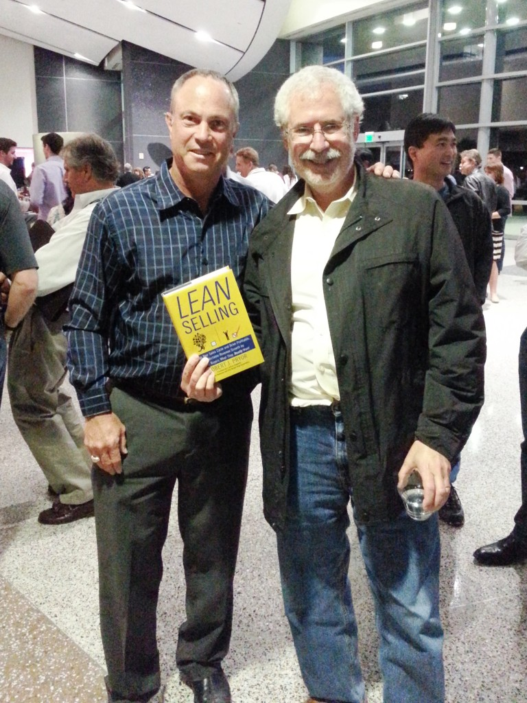 The author with Steve Blank holding a copy of the author's new book, Lean Selling.