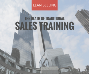 The Death of Traditional Sales Training
