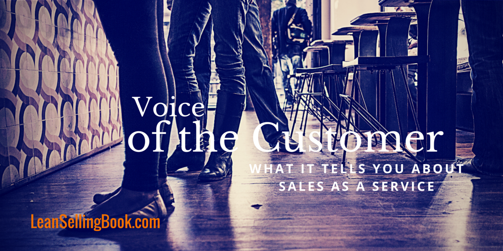 What Voice of the Customer Tells Us About the Sales Process